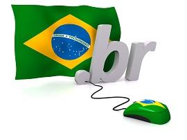 Ilustração bandeira do brasil e um mouse