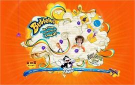 Página inicial do advergame da marca Bubaloo