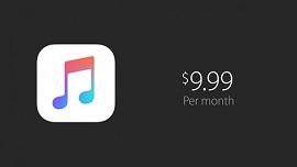 Preço do Apple Music US$ 9,99