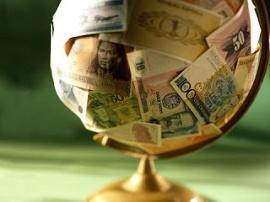 Foto de globo com dólar