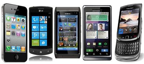 Cinco smartphones