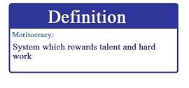 definição de meritocracia
